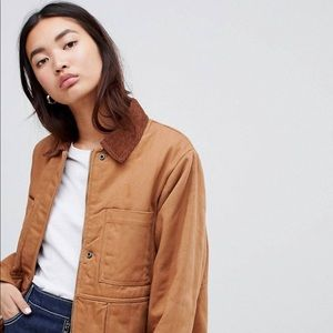 ASOS DESIGN Oversized Denim Wadded Jacket